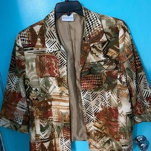 Multi-colored printed jacket/blazer